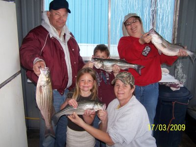 Lake texoma Striper Fishing with Cross Creek Guide Service
