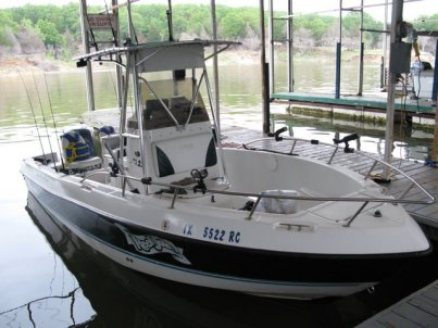 cross Creek Lake Texoma Striper Fishing Boat