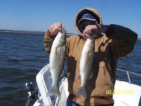Lake Texoma Striper Fishing with croiss Creek Guide Service